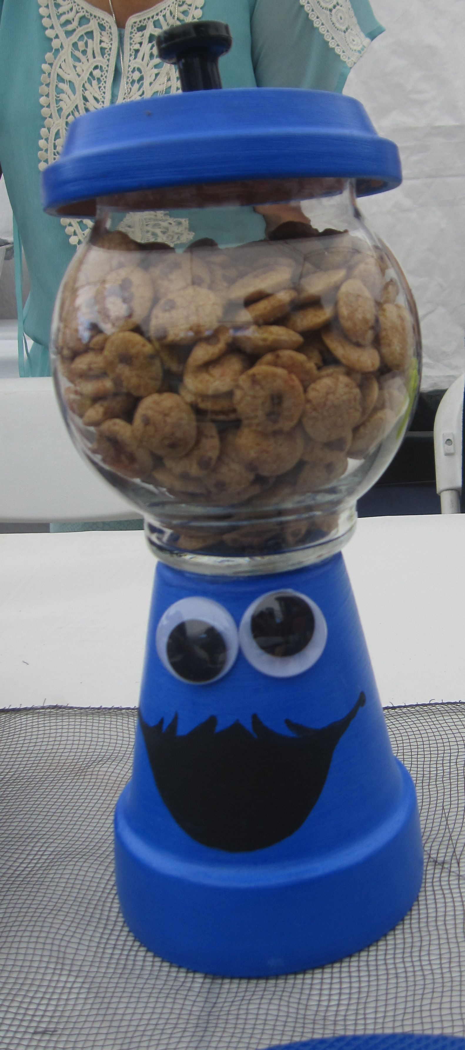Cookie monster centerpiece nolie s nd b day