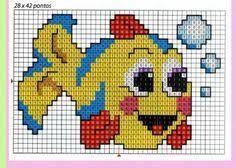 e051187c7 Resultado de imagen para peces bordados en punto cruz