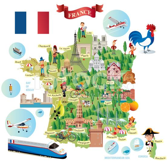 Map Of France Cartoon.Cartoon Map Of France Vector Maps France Map Map Map Vector