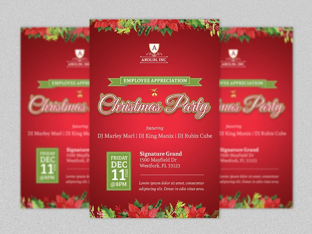 Christmas Invitation Template And Christmas Party Invitation - Party invitation template: company holiday party invitation template