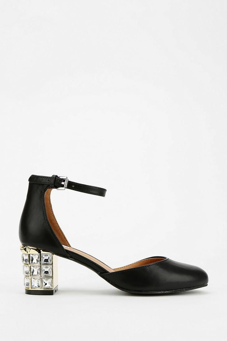 Cooperative Jeweled Heel #urbanoutfitters | Shoes Shoes ...
