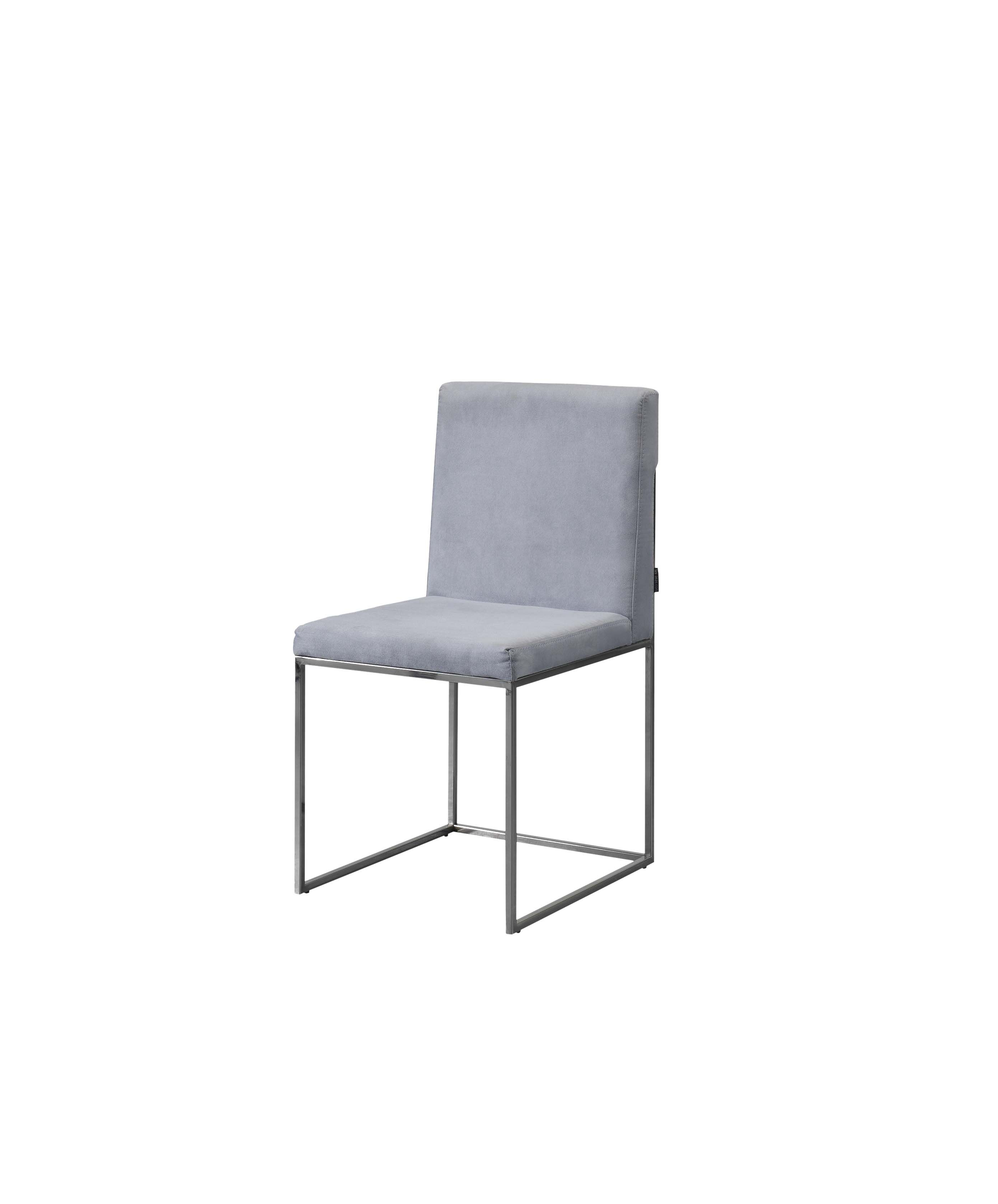 Laskasas | Peter Dining Chair | Light Blue Upholstered Chair With Stainless  Steel Legs. Www