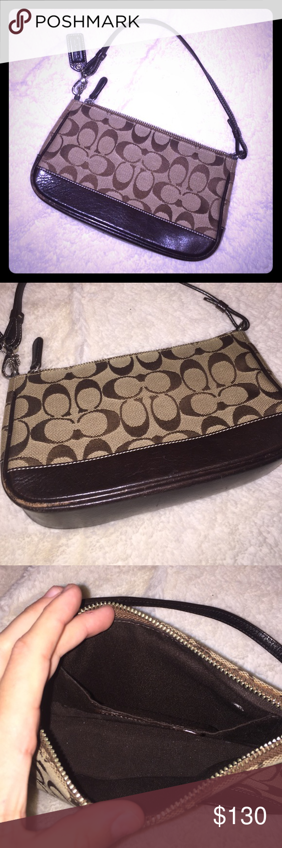 Real authentic small coach purse! Excellent condition small Coach purse. 100% authentic absolutely no damage at all. This piece would be a great addition to anyone's closet! :) Coach Bags Mini Bags