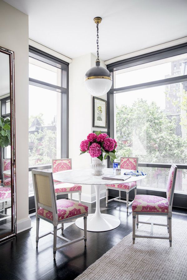 Tulip Dining Table Ideas  Pink Chairs Tulip Table And Dining Pleasing White Dining Room Chair Inspiration