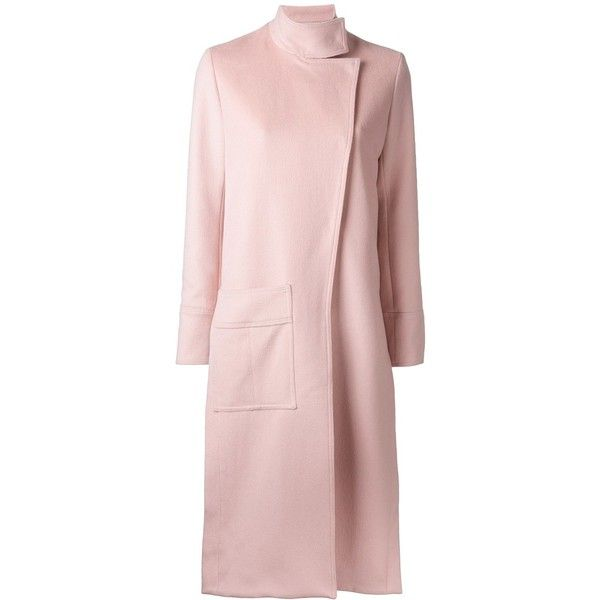 Manning Cartell In Pastel coat (208.140 HUF) via Polyvore featuring outerwear, coats, pastel pink coat, pink coat, pastel coats and manning cartell