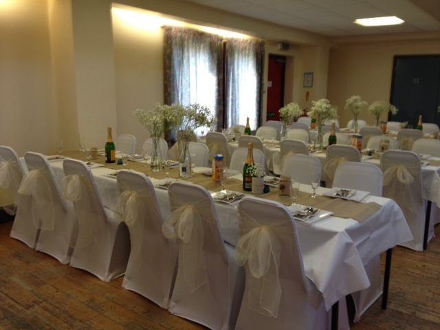 chair covers hire in wolverhampton hanging egg uk white with ivory sashes featherstone community centre
