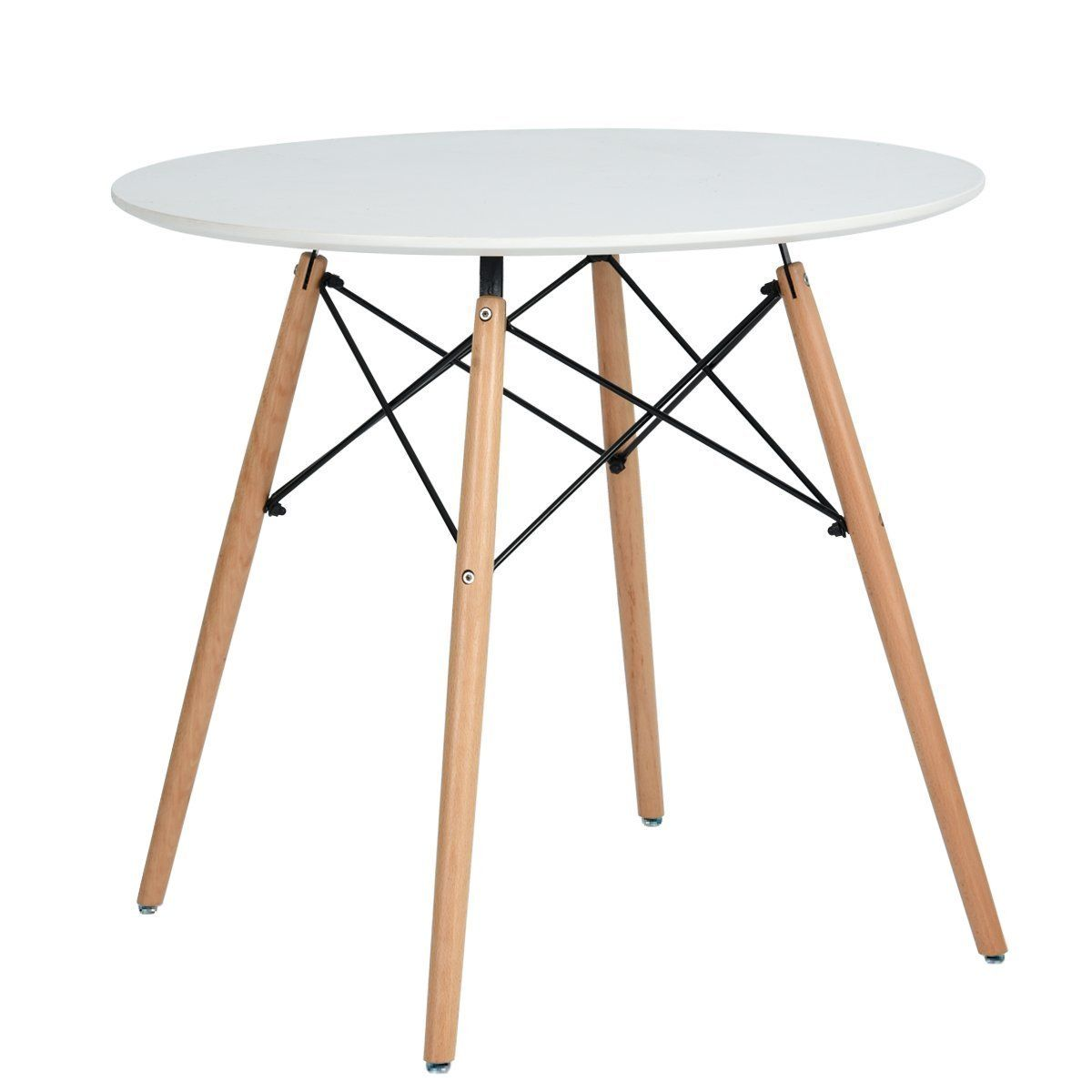Esstisch Coavas Rund Küchentisch Modern Büro Konferenztisch Weiß ...