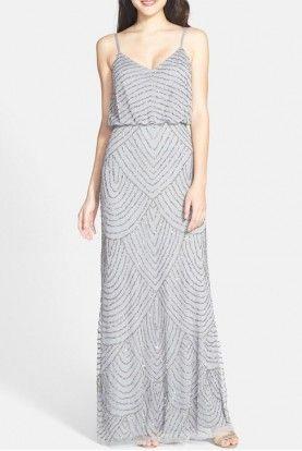 Designer Adrianna Papell Dresses Embellished Bridesmaid Dress Sparkle Bridesmaid Dress Womens Bridesmaid Dresses