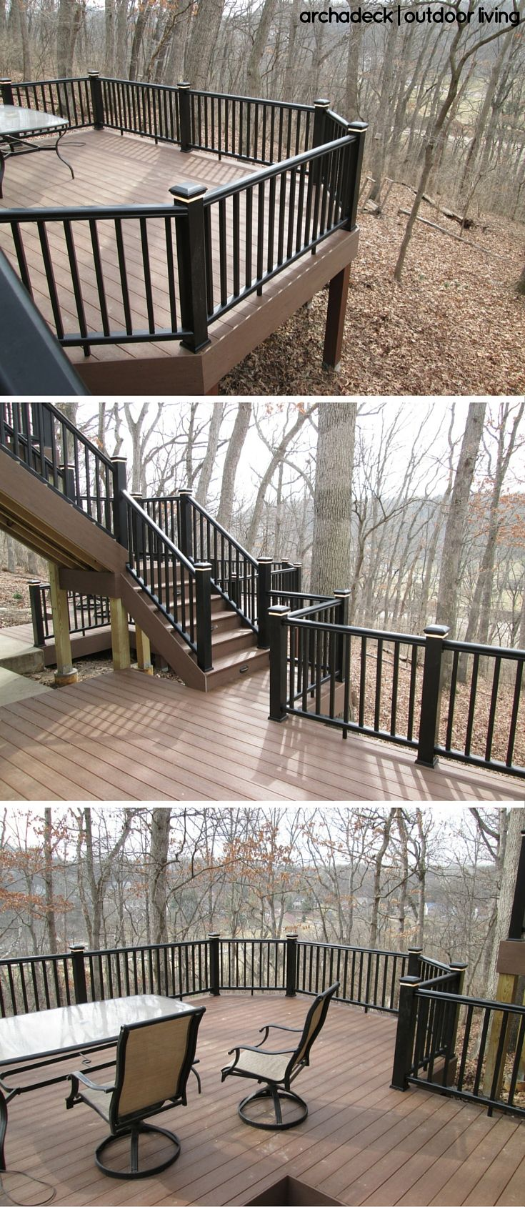 One Trend For Deck Designs This Season Is Pairing Darker