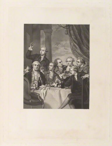 The Dilettanti Society, engraved by Tomkins after Sir Joshua Reynolds, late 1770s