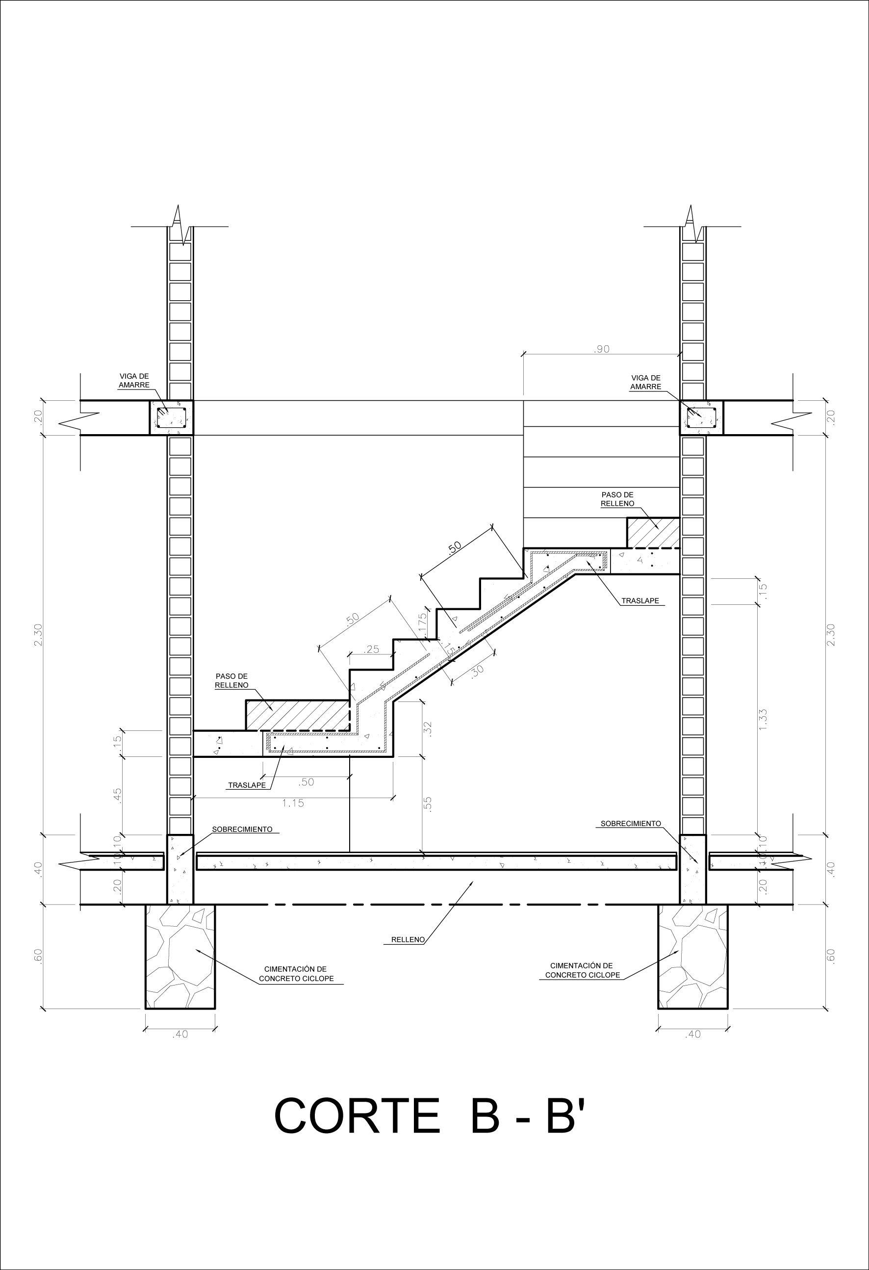 Escalera Detalle De Construccion Detalles Constructivos Constructivo Escalera