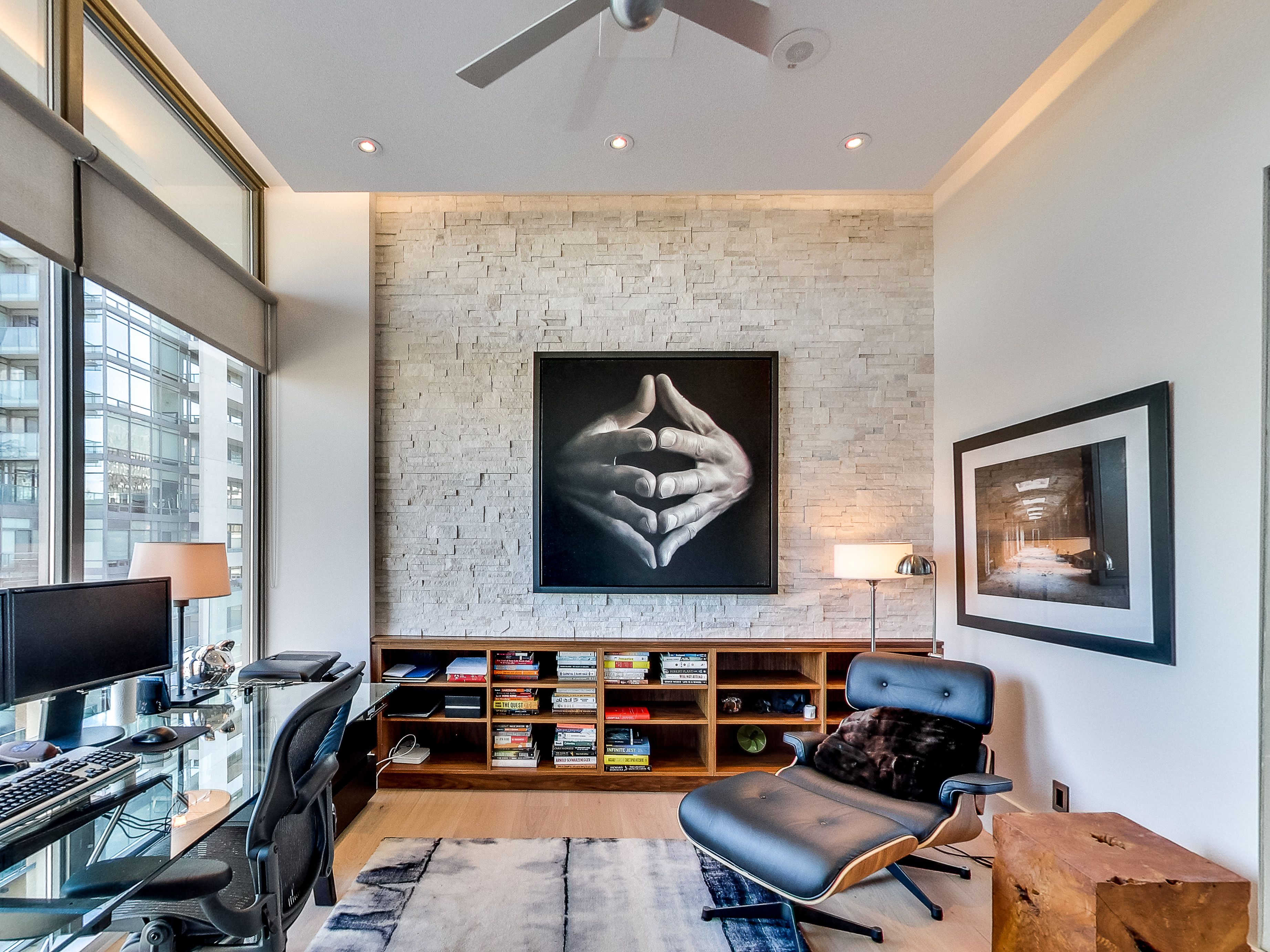 Inspiring home office Yorkville Two Bedroom Condo Home