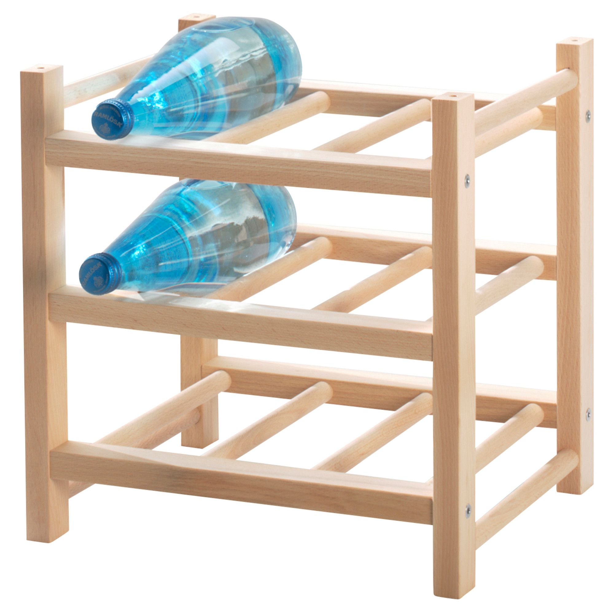 hutten 9-bottle wine rack, solid wood | flaschenregal, ikea und flaschen