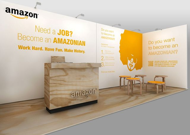 Expo Exhibition Stands Jobs : Amazon exhibition stand at career expo exhibit