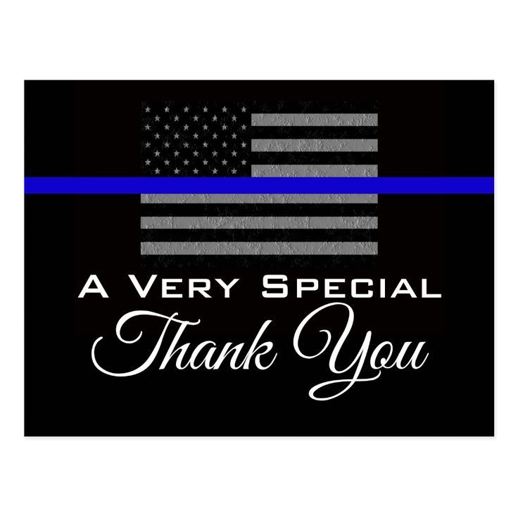 SUPPORT POLICE THANK YOU POSTCARD | Zazzle.com