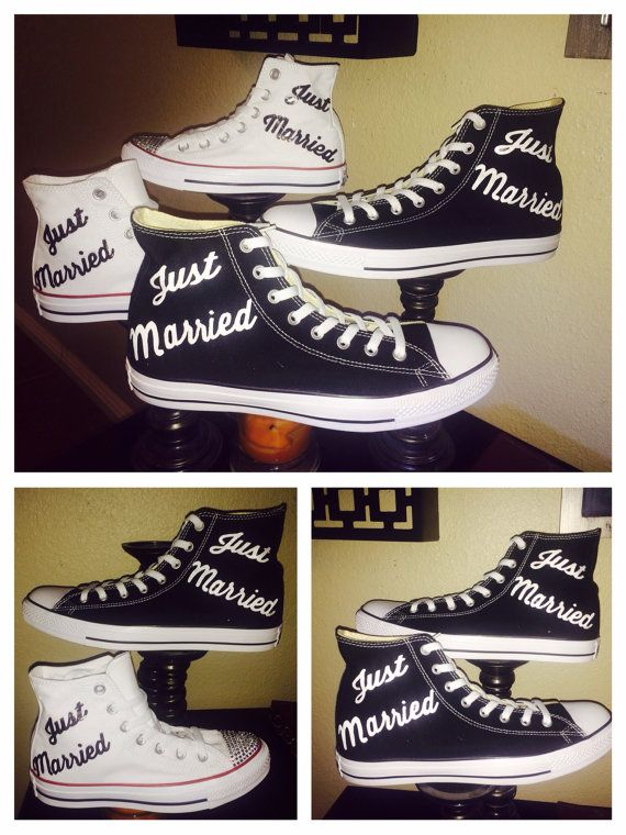 Bride or groom Converse all star chucks sneakers by CrystalCleatss