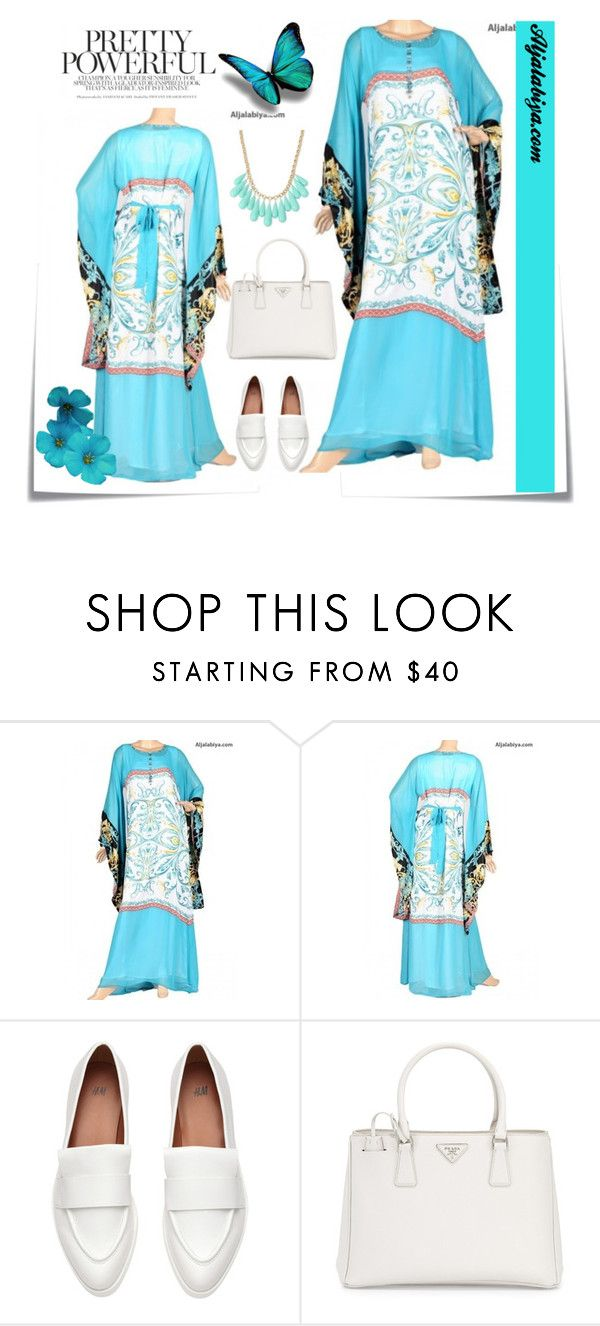 """Aljalabiya2"" by mellie-m ❤ liked on Polyvore featuring Post-It, Prada and INC International Concepts"