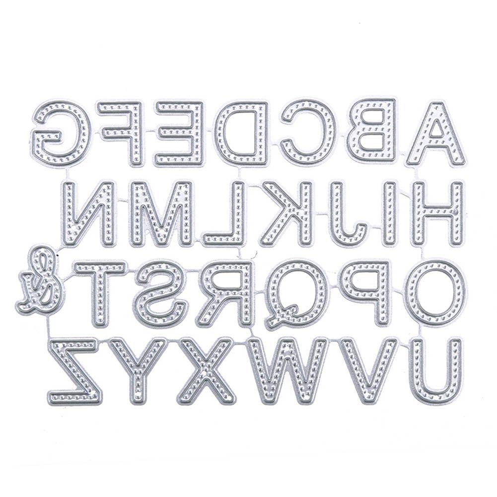 Alphabet Letter A-Z Metal Cutting Dies Stencil DIY Scrapbooking Embossing Paper