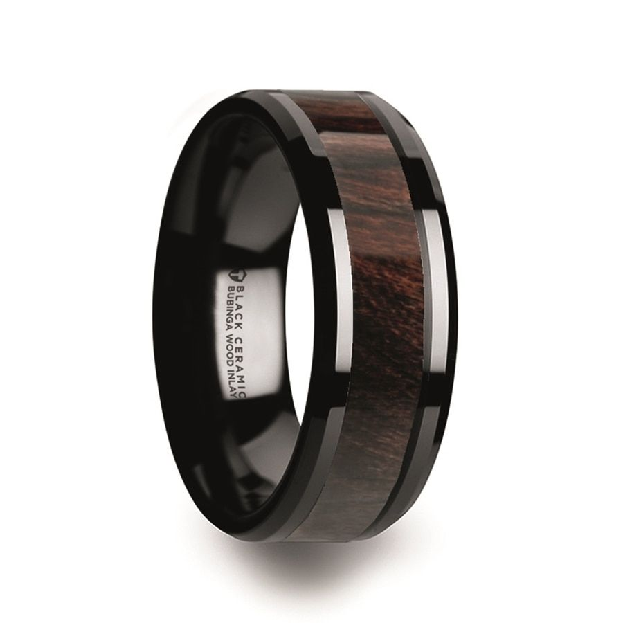 Ephialtes Black Ceramic Men S Wedding Band With Bubinga Wood Inlay Vansweden Jewelers In 2020 Mens Wedding Rings Ceramic Rings Rose Engagement Ring