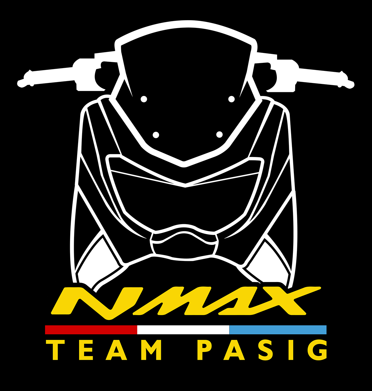 Club nmax philippines front shirt design on behance scooters yamaha philippines shirt designs
