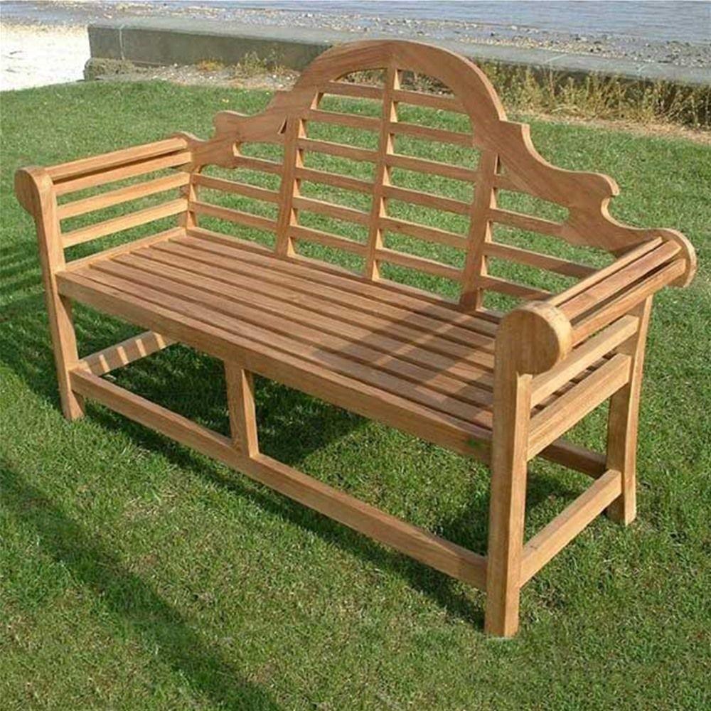 marlborough 3 seat lutyens teak garden bench