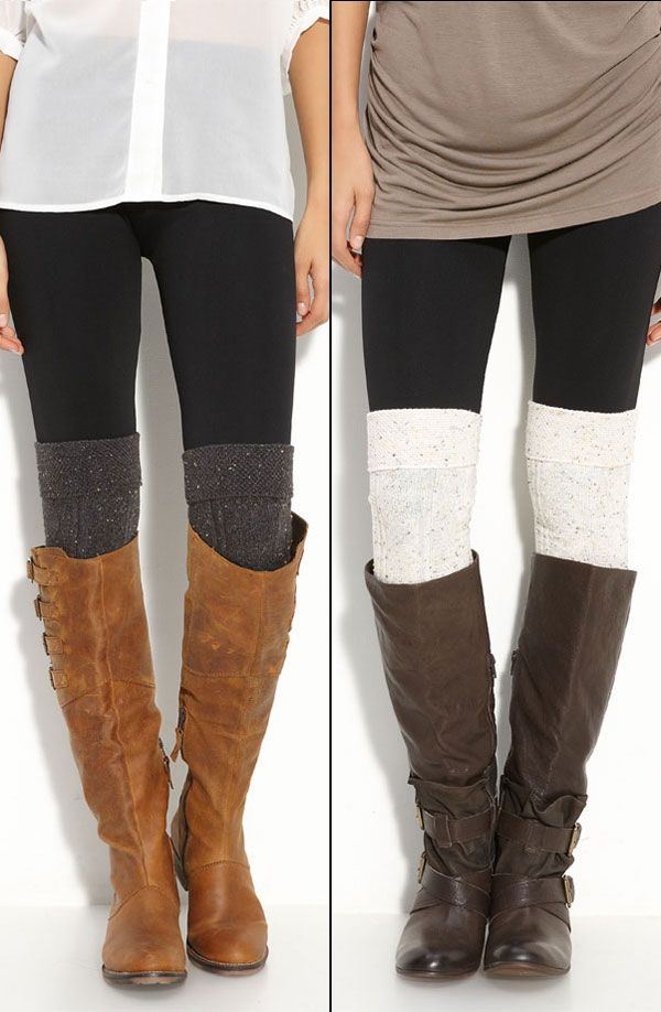 5a9f3914bb8b2 Nordstrom Textured Over the Knee Socks :: Love both socks & ESPECIALLY the  boots! | #boots #kneesocks #nordstrom