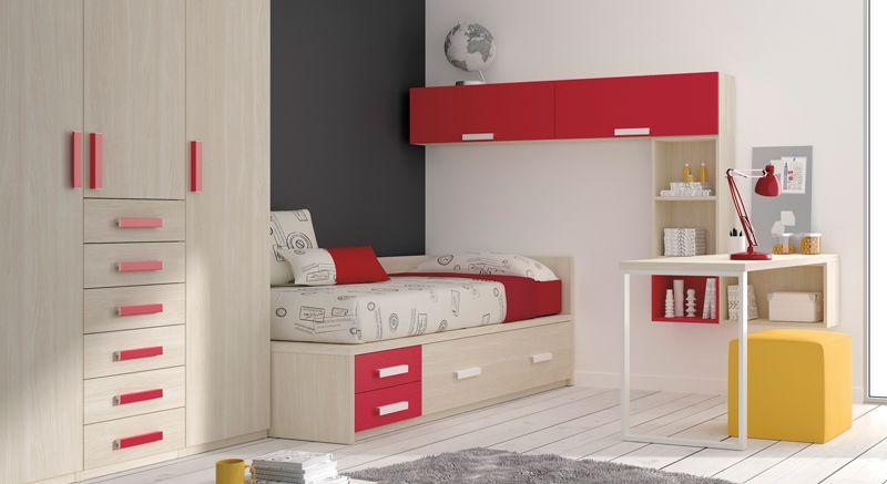 Armario puerta y cajones cama escritorio estanteria for Mobiliario 8 80