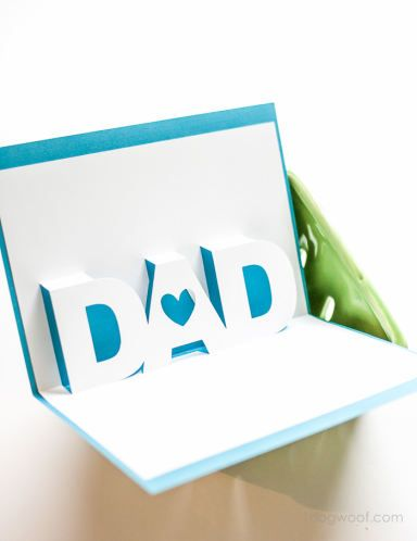 Father S Day Pop Up Card With Free Silhouette Templates Dad Birthday Card Fathers Day Cards Diy Father S Day Gifts