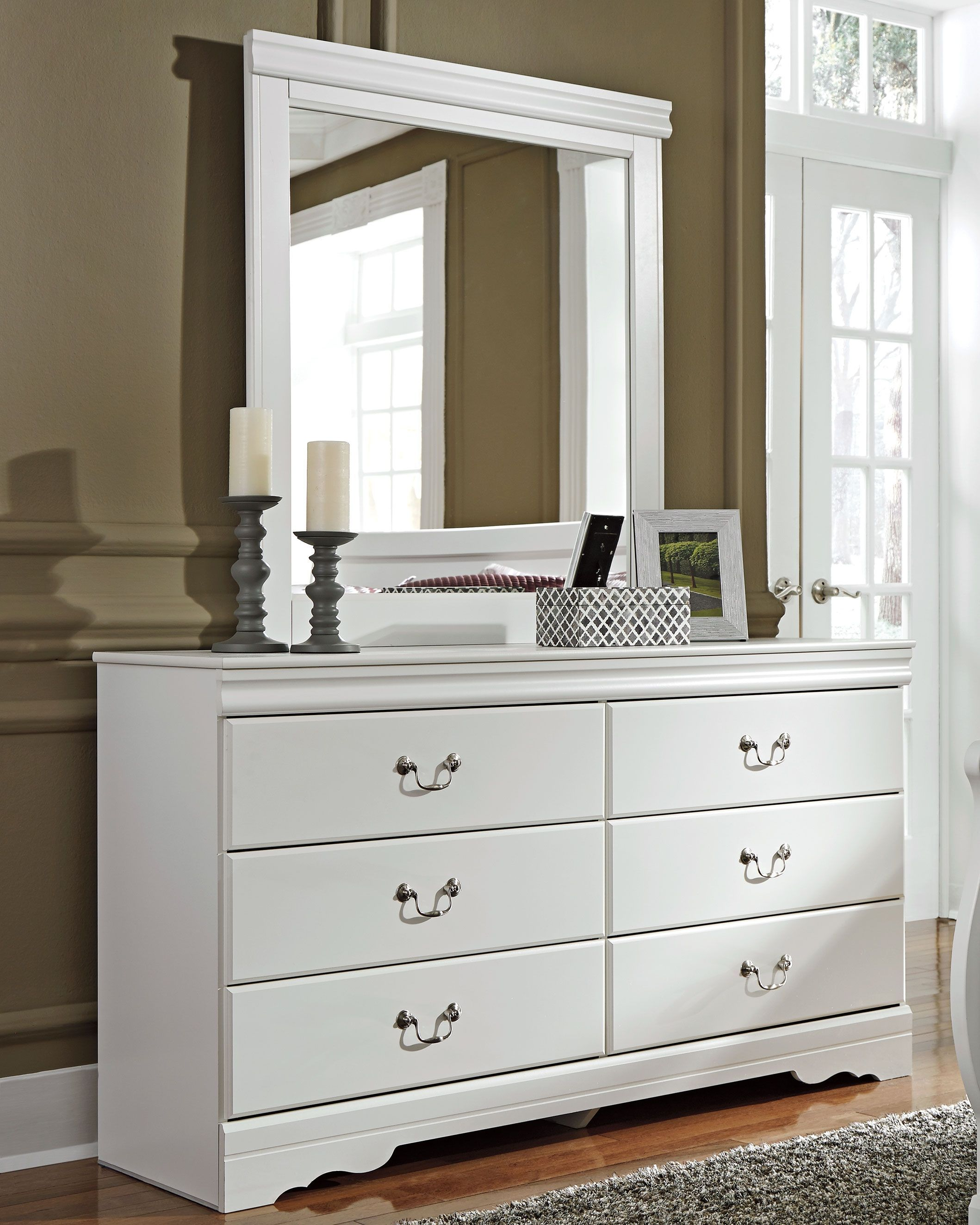 Best Anarasia Dresser And Mirror White Trendy Bedroom Bedroom Dressers Leather Furniture 640 x 480