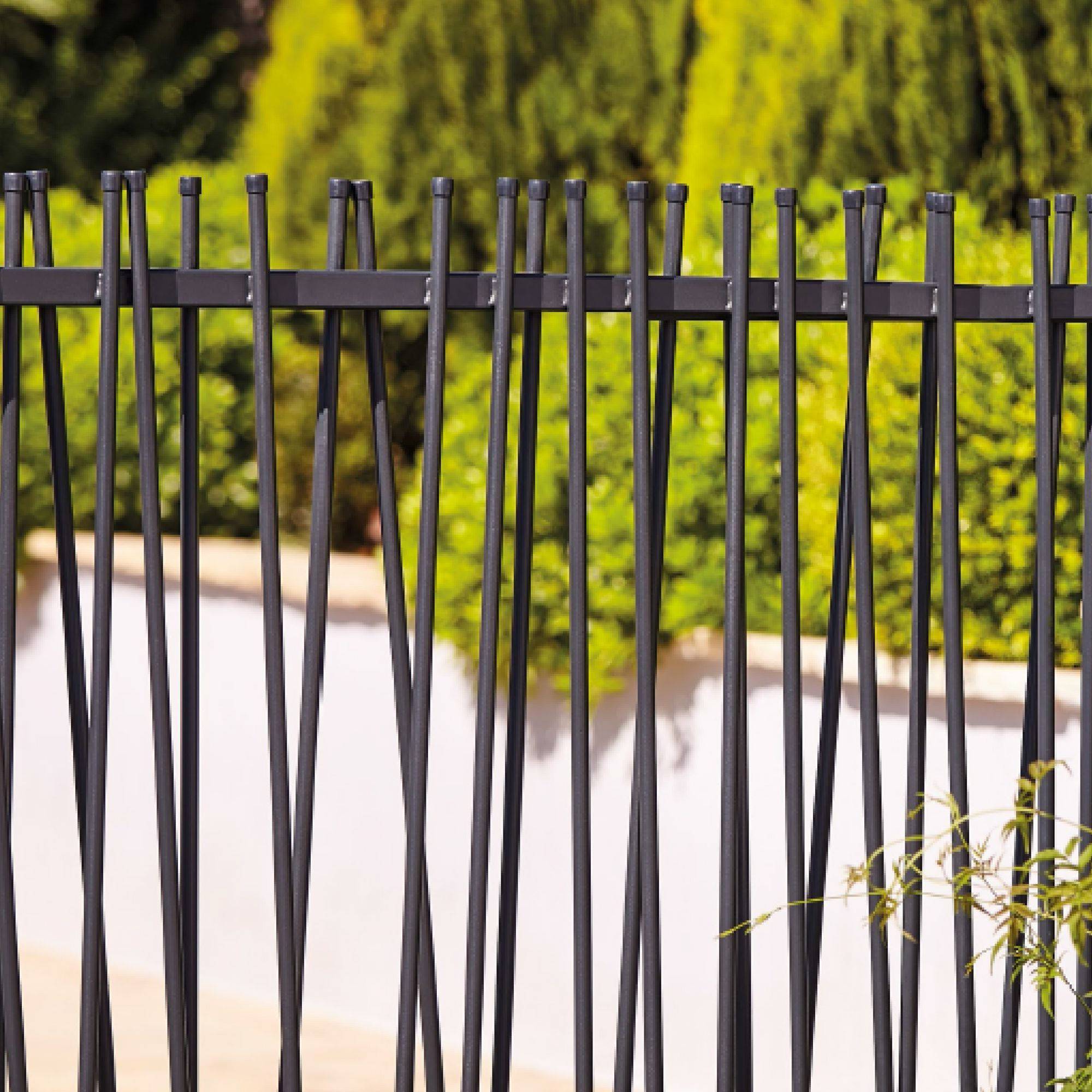 Blooma Powder Coated Steel Tube Fencing W 1 8 M Fence Steel