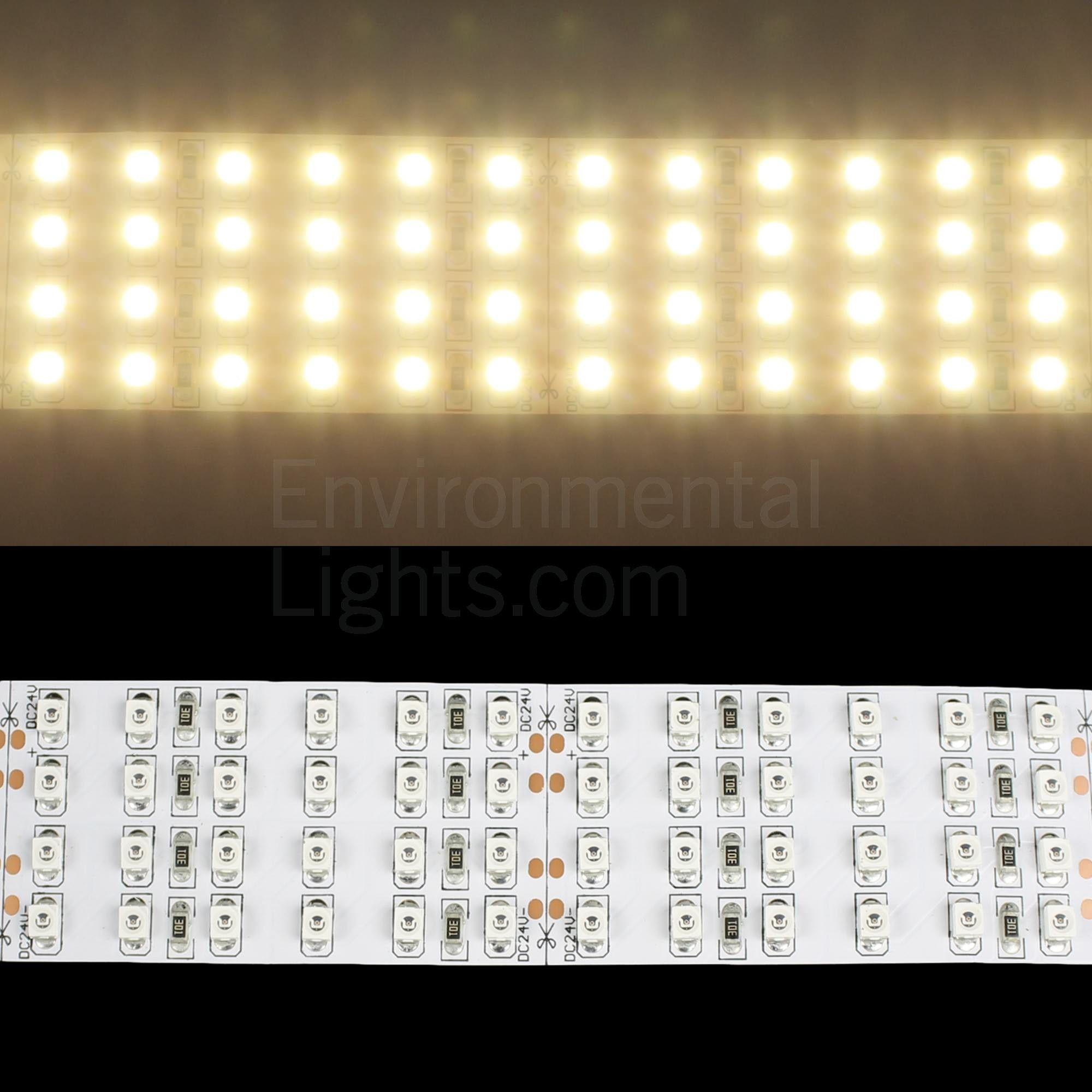 Ww 3528 Quad Row Led Strip Light 450 M 28mm Wide 3 2m Reel 24 Volts Dc 100 Watts 9 5 Watts Foot 31 3 Watts Met Strip Lighting Led Strip Lighting Led Strip