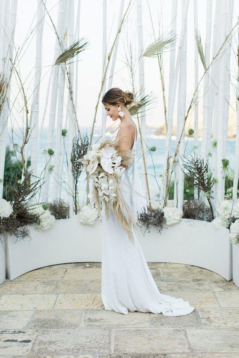 Love from Mykonos in 2020   Brautkleid schlicht, Kleid ...