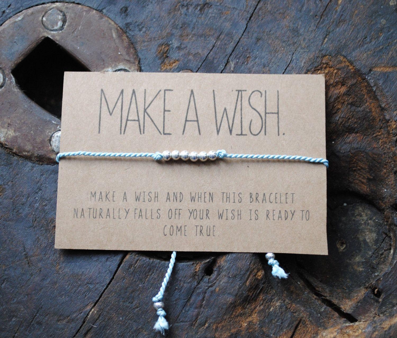 Wish bracelet make a wish bracelet by thefyshstore on etsy