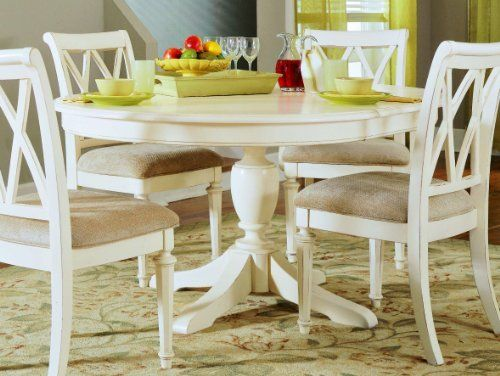 American Drew 920 701r Camden Light Round Dining Table W 16 Leaf Country White Round Pedestal Dining Table Kitchen Table Settings White Round Dining Table