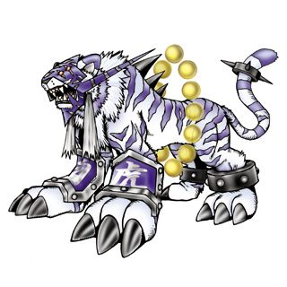 Baihumon - Mega level Holy Beast digimon; Digimon Sovereign of the West