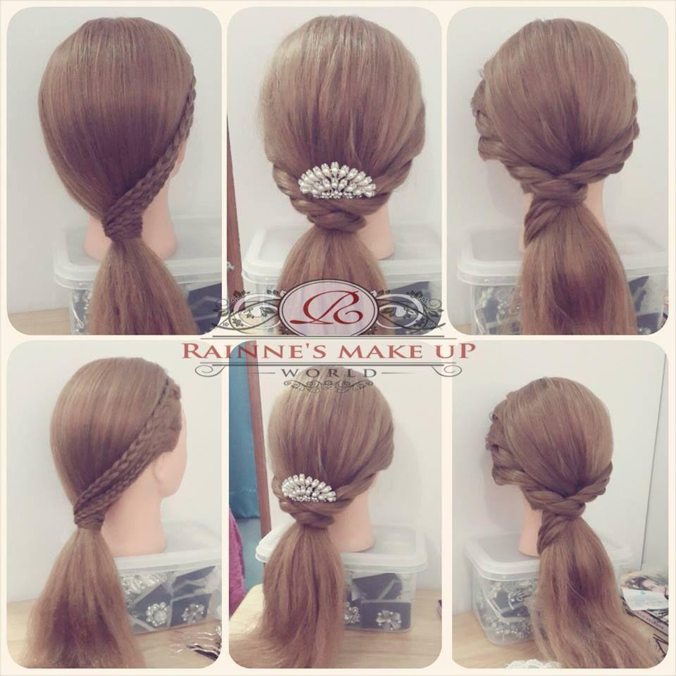 ponytail #hairdo #simple #hairstyle #design #rainneyap | rainne's
