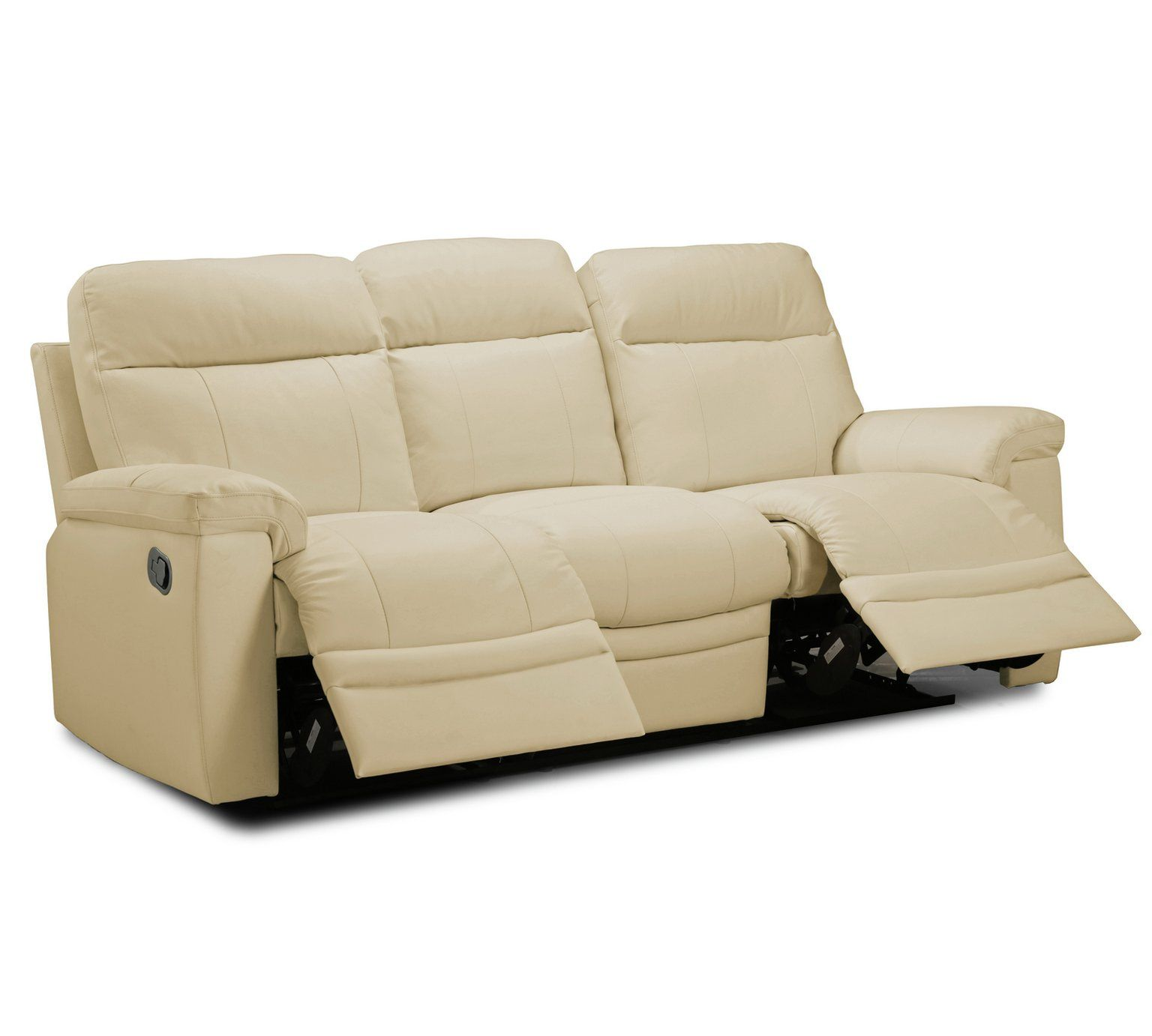 Home Paolo Chair & 3 Seater Manual Recline Sofa -Ivory ...