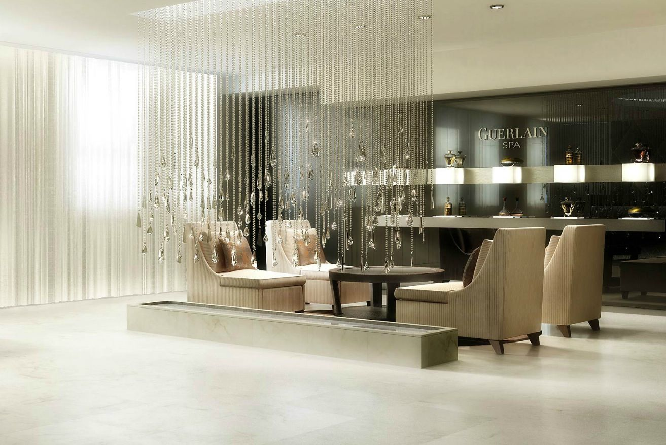 Spa Design Ideas find this pin and more on spa Interior Guerlain Spa Reception Interior Design Bathrooms With Rainy Crystal Decoration Design At Waldorf Astoria Hotel In Manhattan Elegant Interior Spa