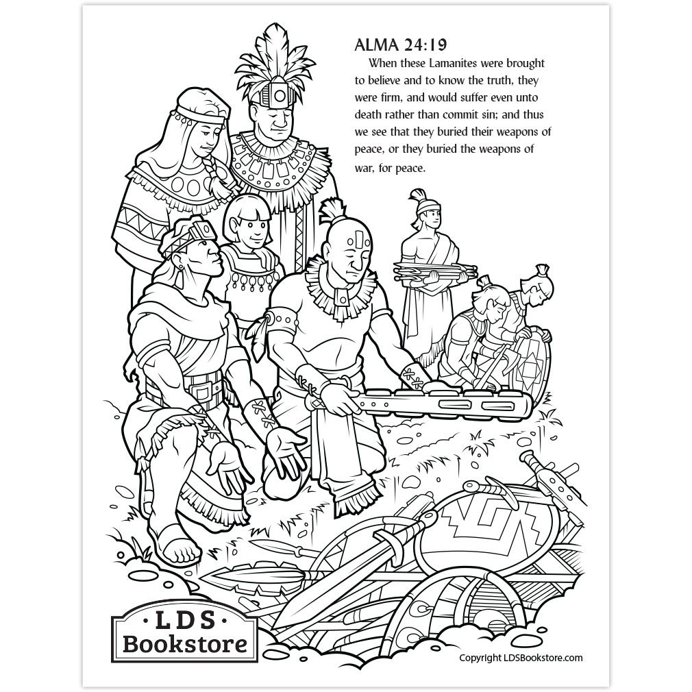 AntiNephiLehies Book of Mormon Coloring Page Printable
