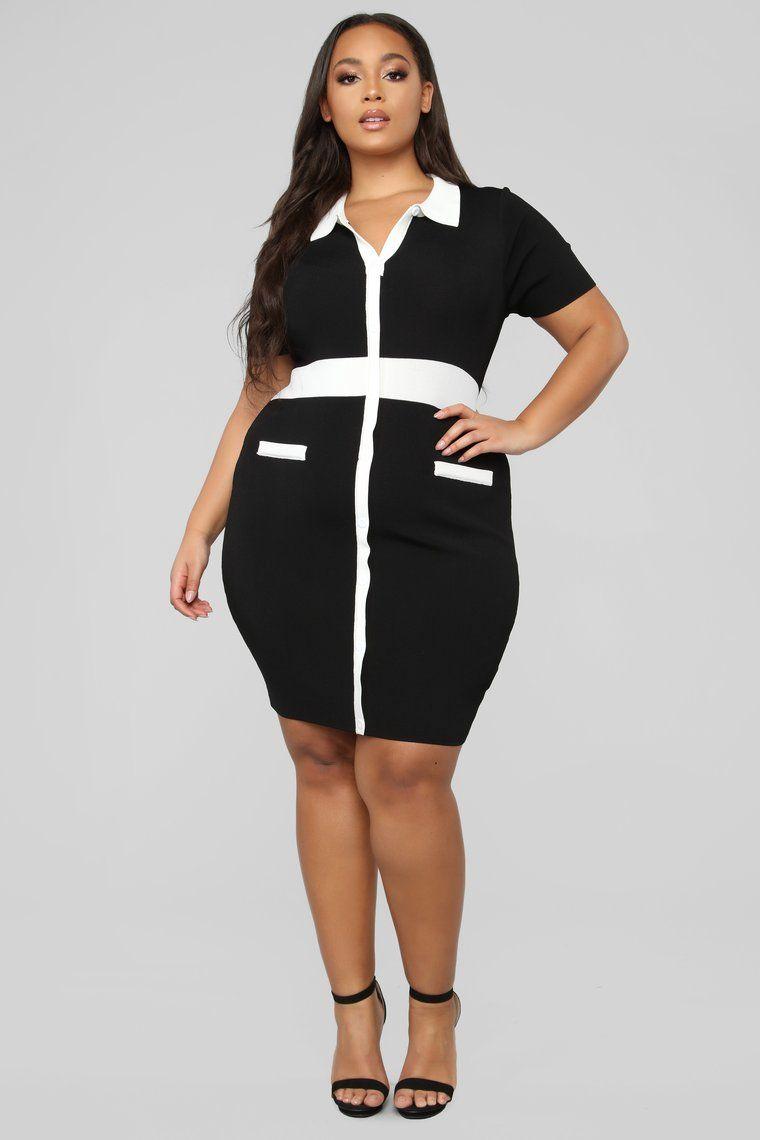 2d57b23c1e Smarter Than I Look Sweater Dress - Black White in 2019 ...