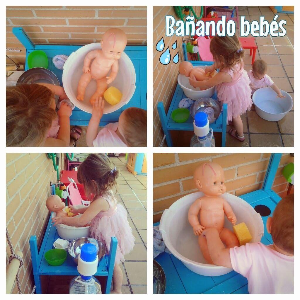 Bano De Munecos En Nuestra Cocinita De Exterior Banar Bebe