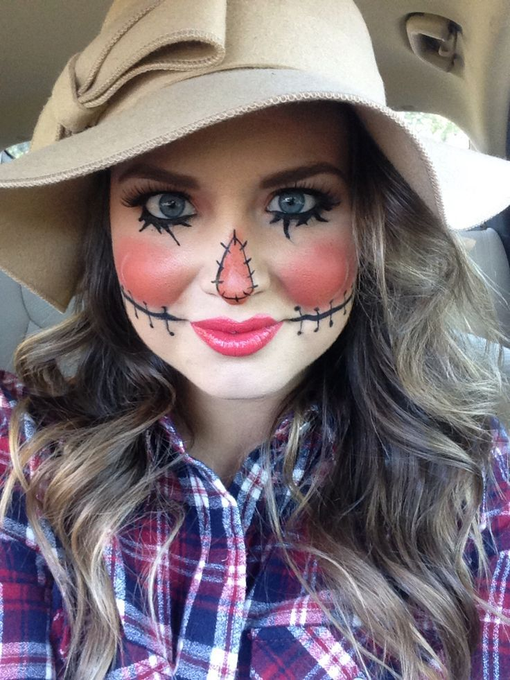 Halloween Makeup // Scarecrow Makeup // cute costume