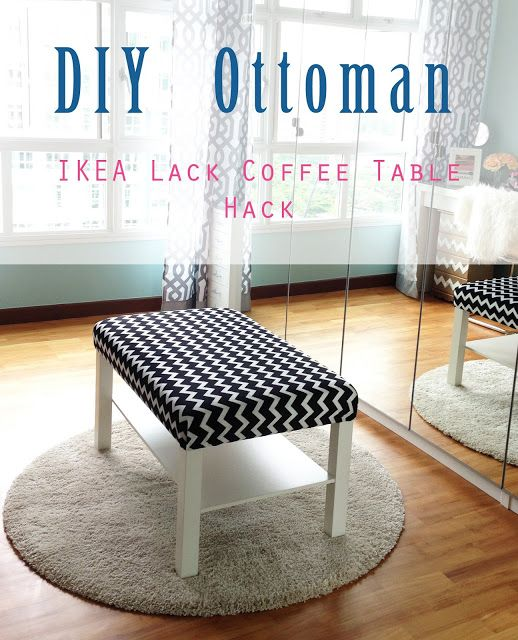 Diy Ottoman Ikea Lack Coffee Table Hack