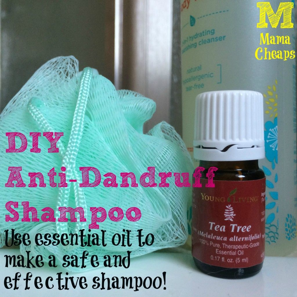 diy anti-dandruff shampoo with essential oil | essential oils
