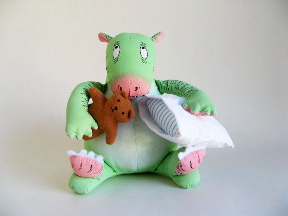 c36c2c5d6f04a Vintage Dennis Dragon stuffed animal from The Monster Bed little ...