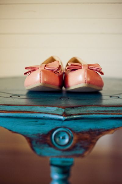 Flats - great for outdoor weddings but still stylish