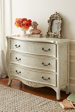 Le Havre Chest - Antique Brass & Wood Chest, Taupe Finish Chest | Soft Surroundings