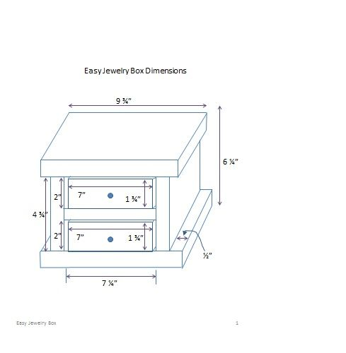 Ana White | Build a Easy Jewelry Box | Free and Easy DIY Project and Furniture Plans