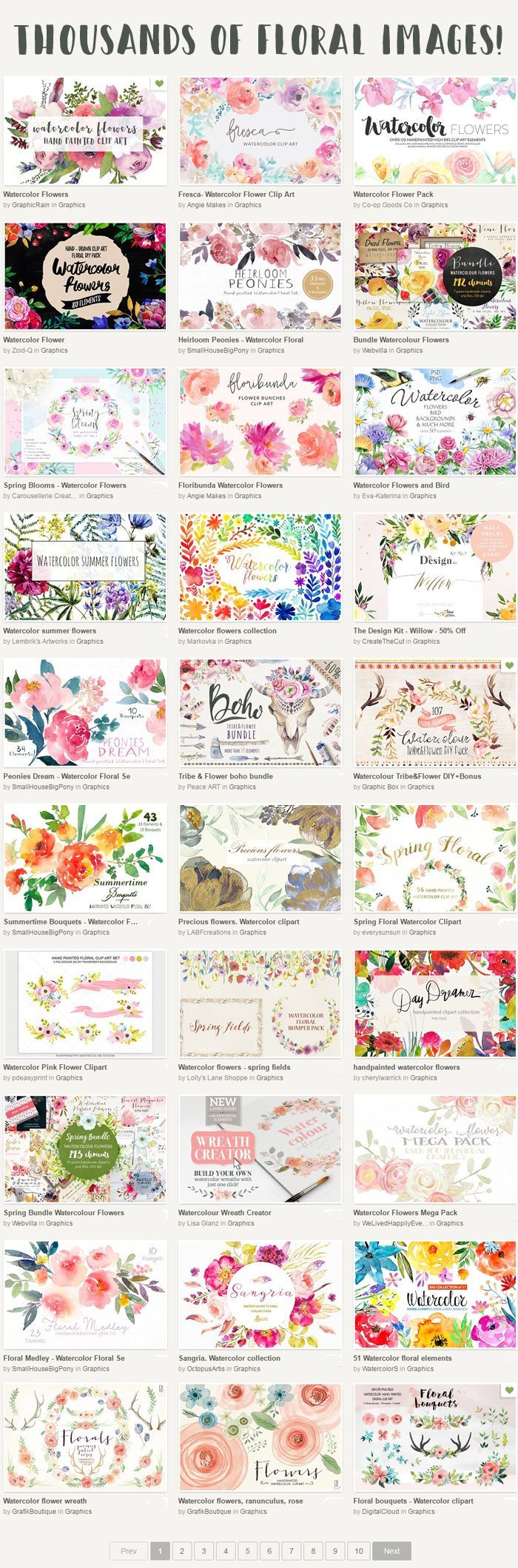free watercolour flower graphics scores fonts and graphics