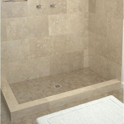 Tile Redi Muli Curb Shower Pan Double Threshold Shower Base Size